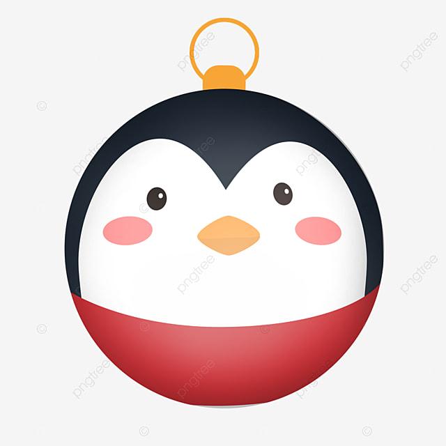 simple cute penguin christmas ball