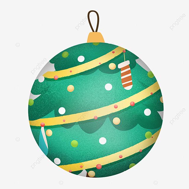 simple pine christmas ball