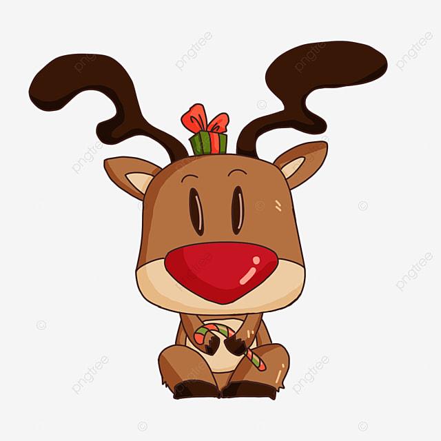 big head christmas elk clipart