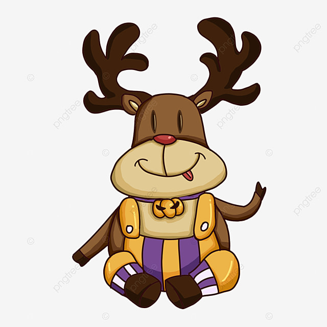 cartoon greeting christmas elk clipart