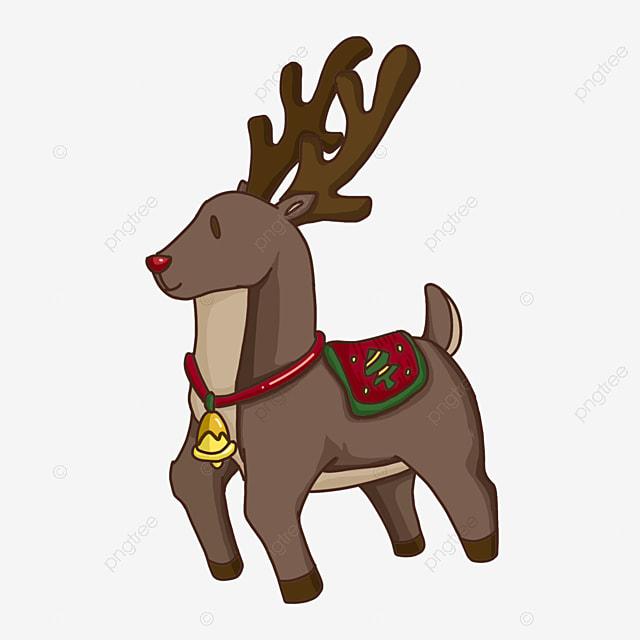 christmas elk with bells clip art