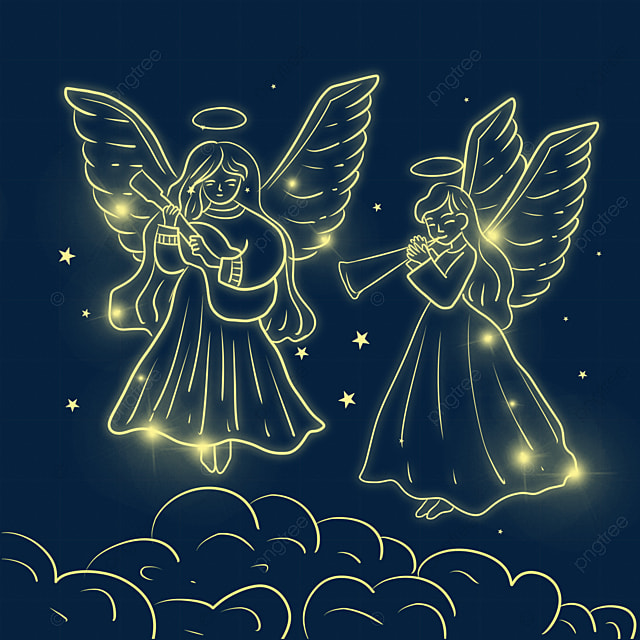 christmas glowing angel child