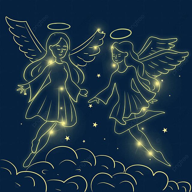 christmas glowing angel creative