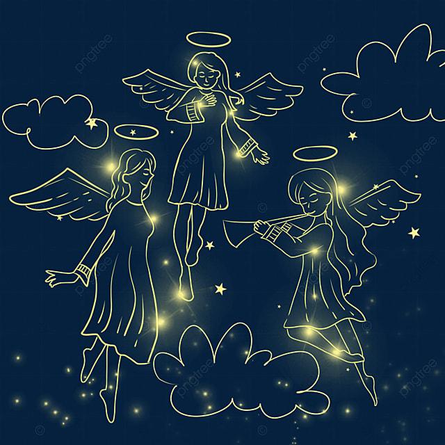 christmas glowing angel female