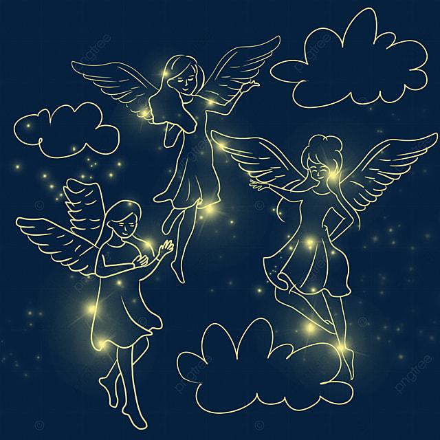 christmas glowing angel girl