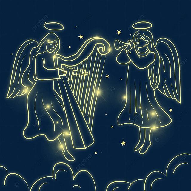 christmas glowing angel in performance