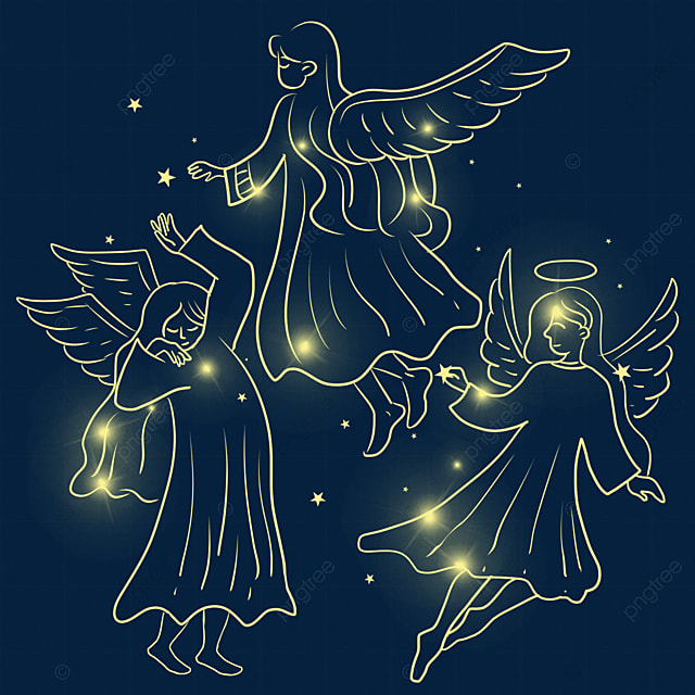 christmas glowing angel light effect