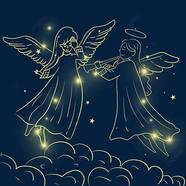 christmas glowing angel playing