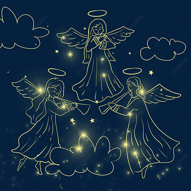 christmas glowing angel show