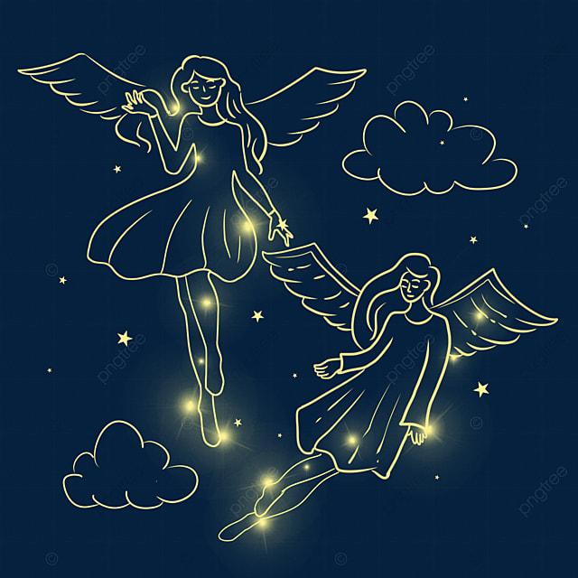 christmas glowing flying angel