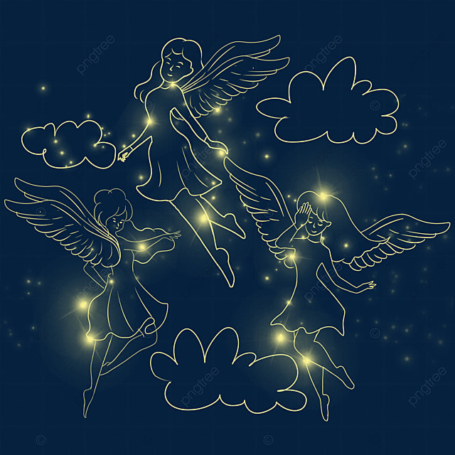 christmas glowing playful angel