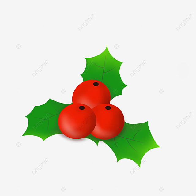 christmas holly brooch
