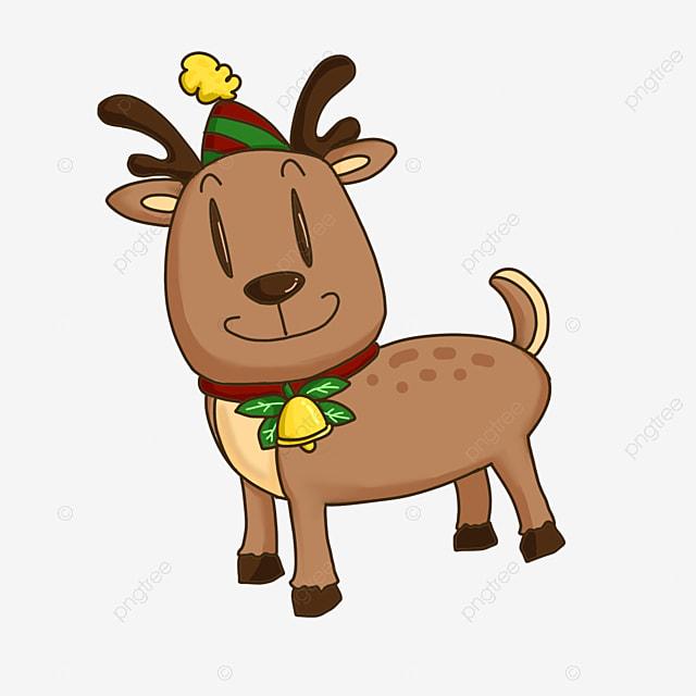 cute cartoon christmas elk clipart