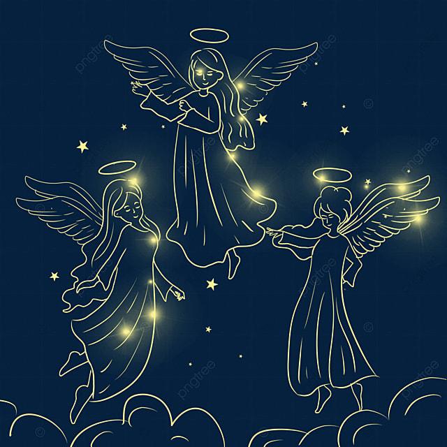 cute christmas glowing angel