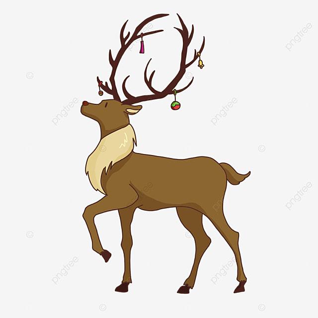 hanging decorative christmas elk clipart