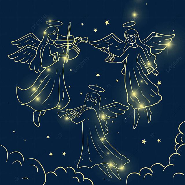light effect christmas glowing angel