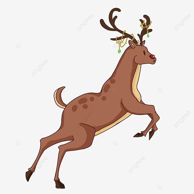 raised front legs christmas elk clip art