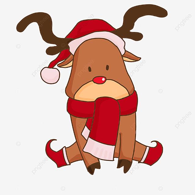 sitting christmas elk clip art