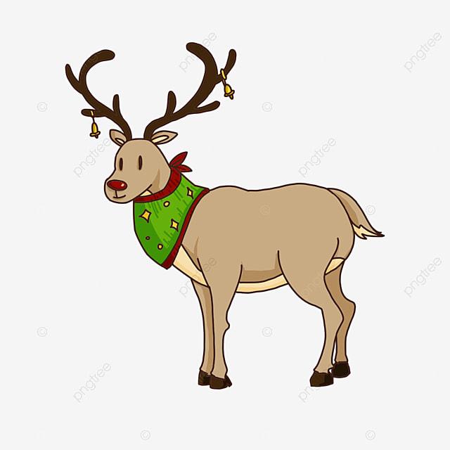 standing christmas elk clip art