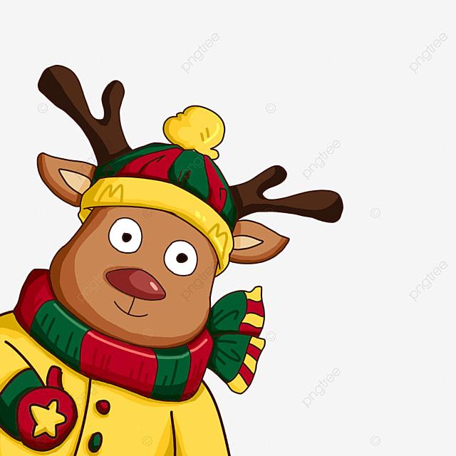 winter christmas elk clip art