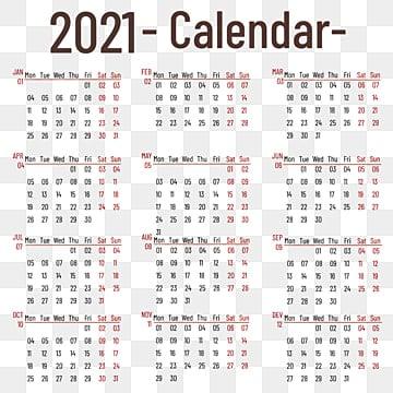 Desain Kalender Gambar Tahun 2021 / Kalender Indonesia ...