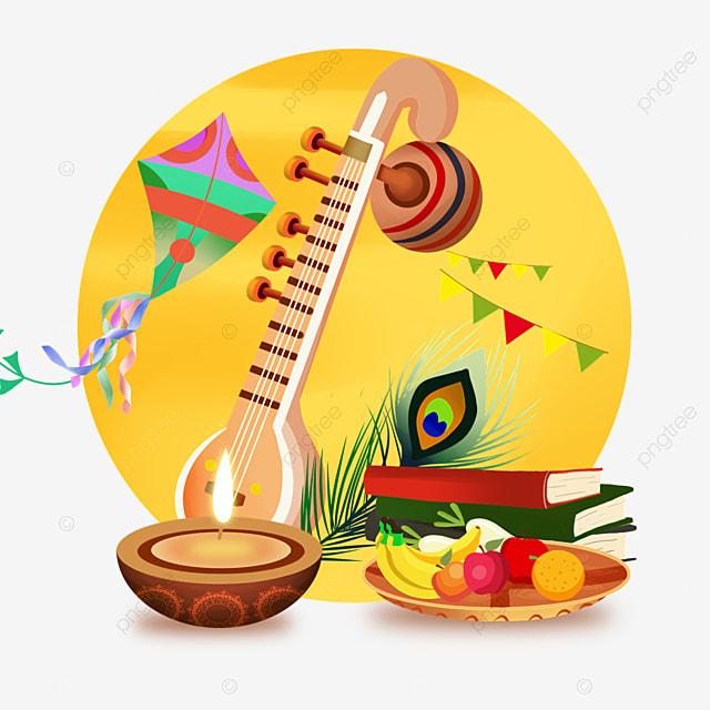 indian festival vasant panchami celebration element