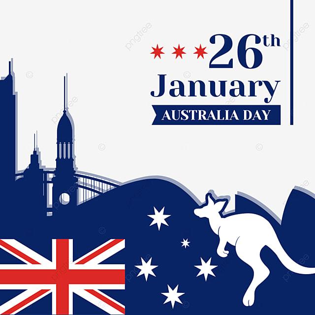 australia day abstract city and hollow kangaroo