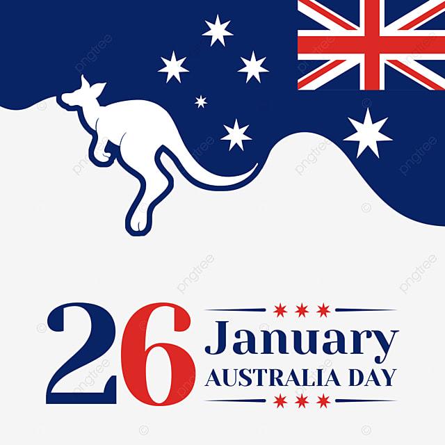 australia day abstract minimalist kangaroo and flag