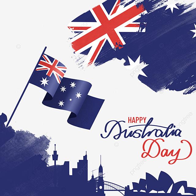 australia day brush background and textured flag