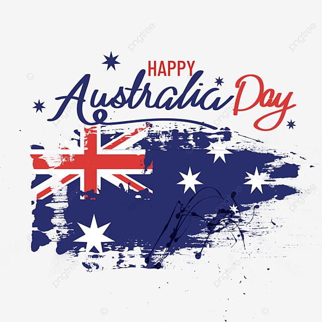 australia day brush mottled effect background