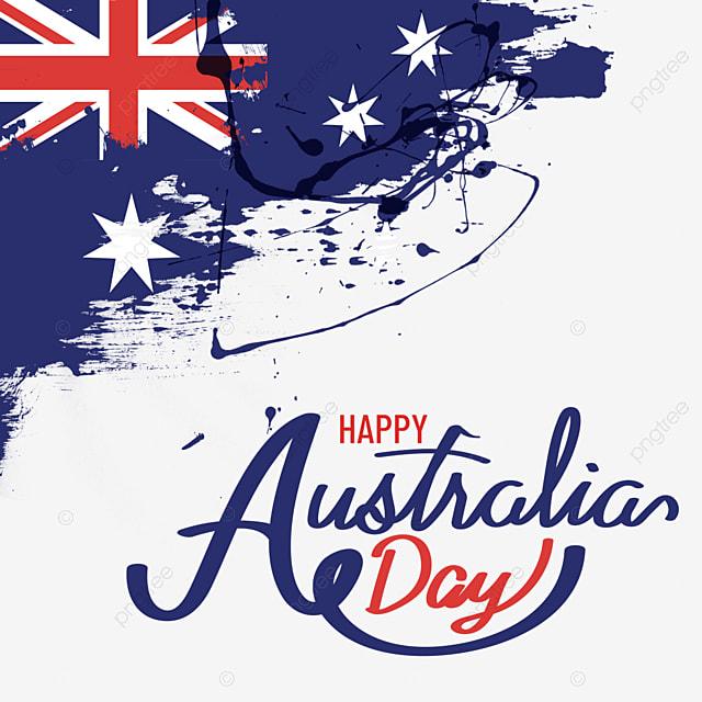 australia day flag brush made old effect