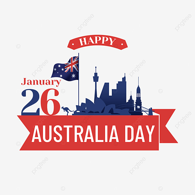 australia day january 26th national day city building silhouette