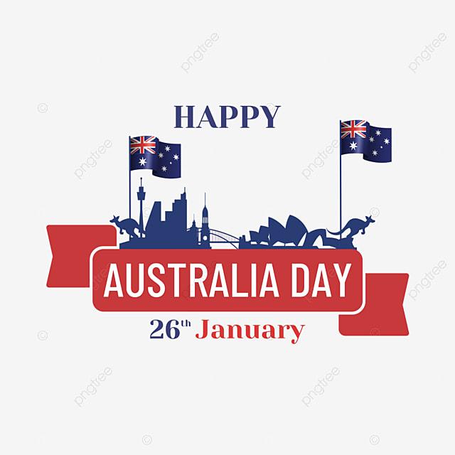 australia day minimalist banner abstract city