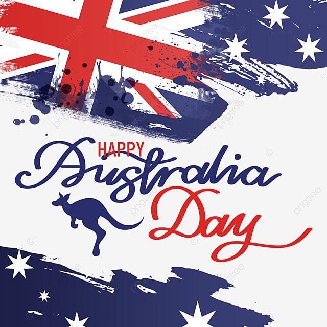 australia day national day abstract flag mottled brush effect