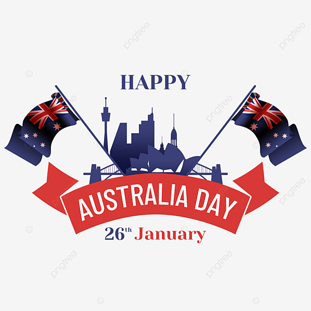 australia day textured flag and silhouette abstract city