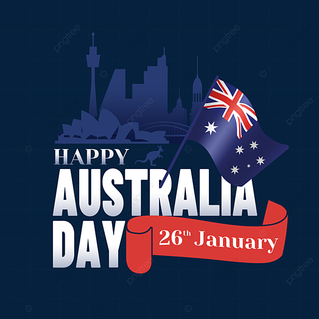 australia day textured flag and silhouette city