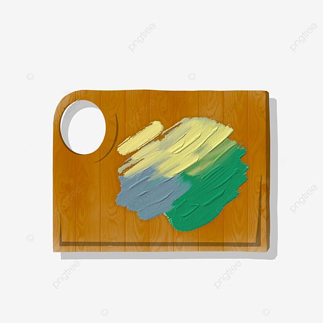 Peinture A L Huile Carree Clipart Panneau Pigmentaire Art Palette Fichier Png Et Psd Pour Le Telechargement Libre