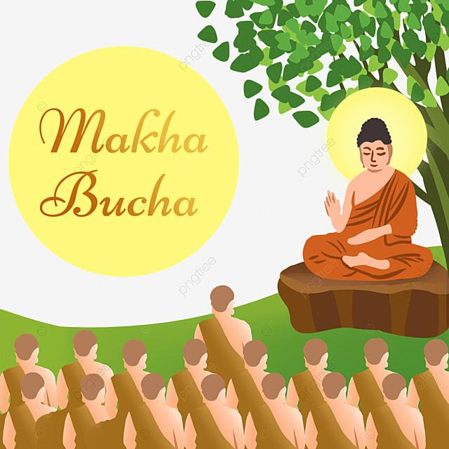 thai festival makha bucha flat wind character