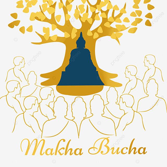 thai festival makha bucha golden line monk