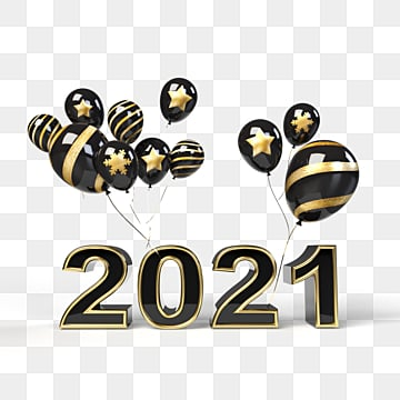 Happy New Year 2021, Gold Clipart, 2021, New Year PNG ...