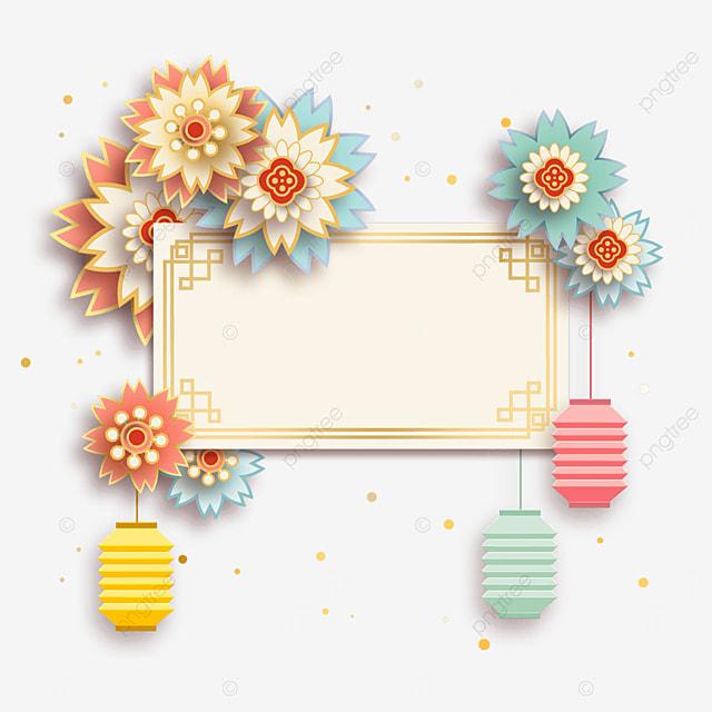 golden creative spring festival border