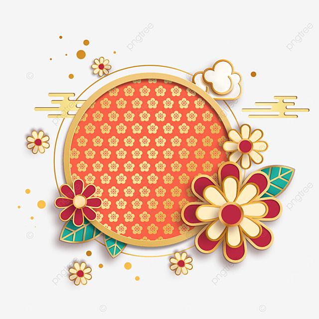 orange chinese new year border