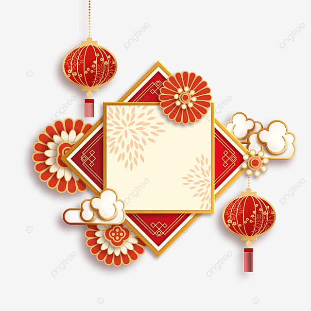 red traditional chinese new year border