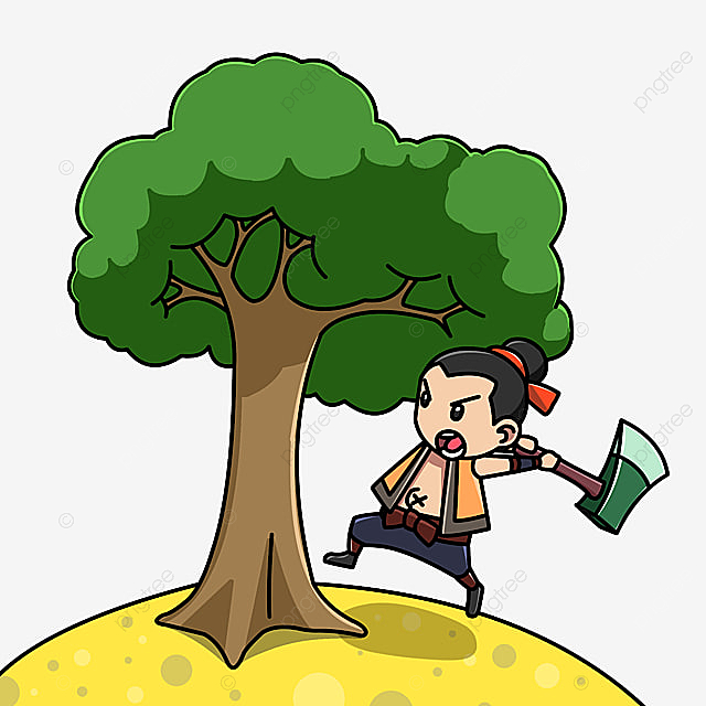 Wu Gang Cutting Tree Wu Gang Mid Autumn Festival Cartoon Png Transparent Clipart Image And Psd File For Free Download