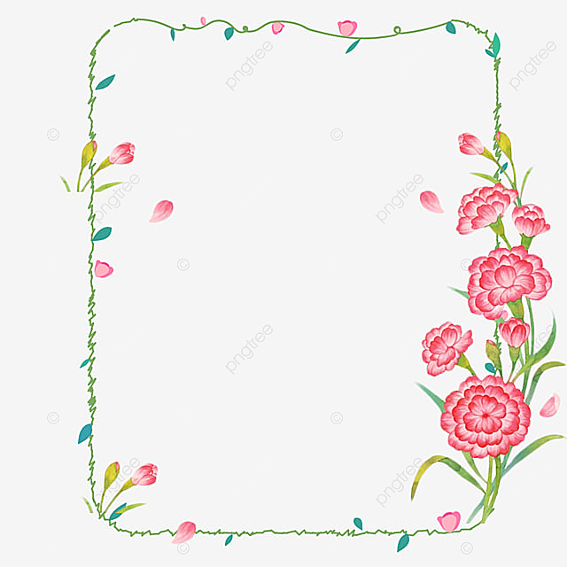 Mothers Day Border Pink Small Fresh Mother S Day Png Transparent Clipart Image And Psd File For Free Download