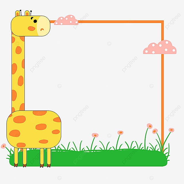 Original Cartoon Animal Border Small Fresh Frame Lace Png Transparent Clipart Image And Psd File For Free Download