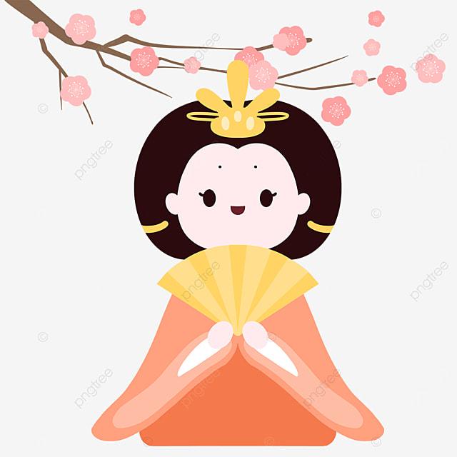 cute kimono dolls at dolls festival on march 3