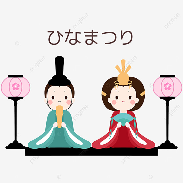 doll decoration for dolls festival in japan on march 3rd