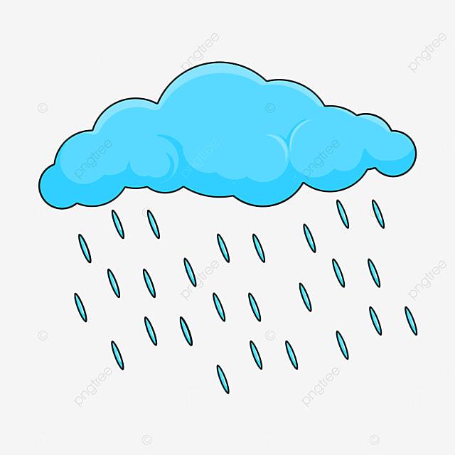 إنها تمطر على سحابة غيم مطر خفيف سحاب Png وملف Psd للتحميل مجانا