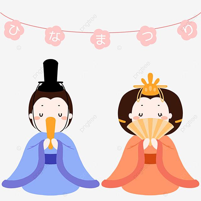 japan march 3rd dolls festival cartoon decoration